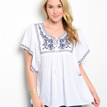 Short Sleeved Puebla Blouse