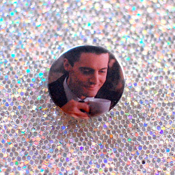 "1"" Agent Dale Cooper Button / Twin Peaks Pin"