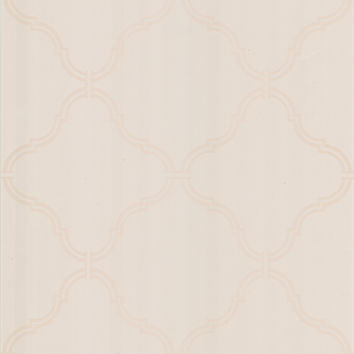 Sample of Estate Moroccan Grate Wallpaper in Pearl by Brewster Home Fashions