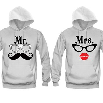Mr. Mrs. Nerd Unisex Couple Matching Hoodies