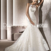 US $233.79 Free Shipping Luxurious Trumpet/Mermaid Bateau Floor-Length   Wedding Dresses 2013 Spring Trends