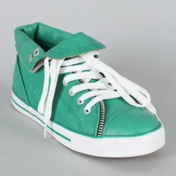 Breckelle Neo-14 Zipper Trim Lace Up Sneaker