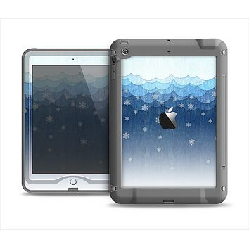 The Snowy Blue Paper Scene Apple iPad Mini LifeProof Nuud Case Skin Set