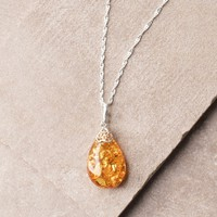 Amber Filigree Necklace
