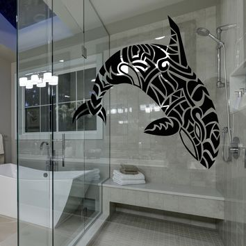 Window and Glass Vinyl Decal Abstract Sea Animal Dolphin Killer Whale Stickers (2325igw)
