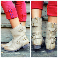 Road Traveler Khaki Ankle Boots