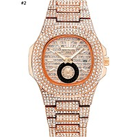 Patek Philippe 2019 new personality men and women models full of diamonds high-grade quartz watch #2
