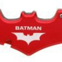 BATMAN Double Blade Batman bat FOLDING POCKET Knife - RED