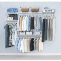 Shop Rubbermaid HomeFree Series 4-ft to 8-ft White Adjustable Mount Wire Shelving Kits at Lowes.com