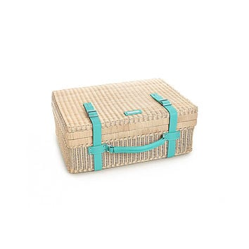 Tiffany & Co. - Central Park picnic basket in wicker with Tiffany Blue® leather trim.