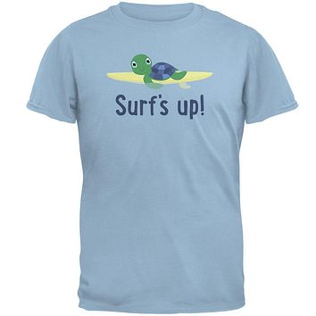 Sea Turtle Surf's Up Summer Cute Mens T Shirt