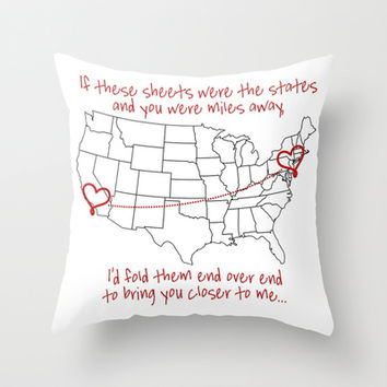 If These Sheets Were States All Time Low Lyrics Throw Pillow by andrialou
