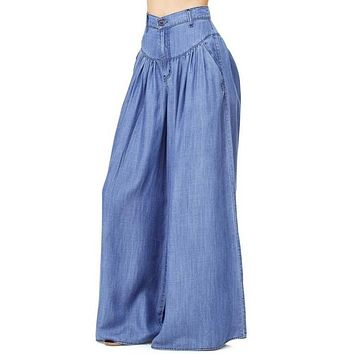 HIPPIE CHICK DENIM FLARE PANTS
