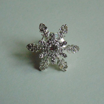 Avon Signed Snowflake Pin, Brooch, Lapel