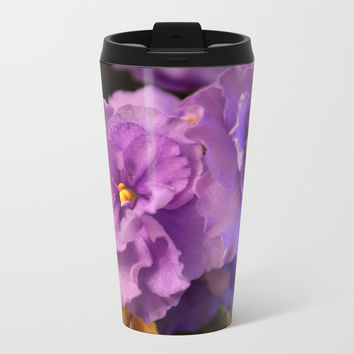 Spring violet Metal Travel Mug by ArtGenerations