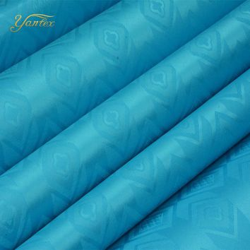 YANTEX-Guinea Brocade 10 Yards/Pc Blue Color Shadda Bazin Riche Fabric Damask African Garment Fabric Germany Quality Party Dress