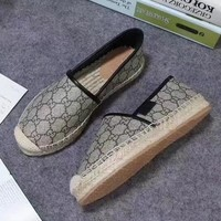 GUCCI Slip-On Women Fashion Espadrilles Flats Shoes8