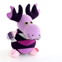 Handmade  Personalized   Moose  for kids  Stuffed Animal  baby  Plush Toy   sock doll     Ready to Ship  3#