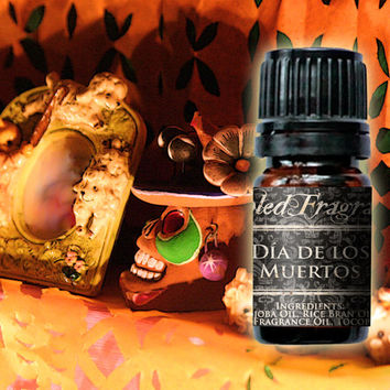 Dia de Los Muertos Perfume Oil: 5mL Amber Bottle, Day of the Dead, Sugar Sweet Artisan Fragrance, Alcohol Free, Hand Blended Gourmand Scent