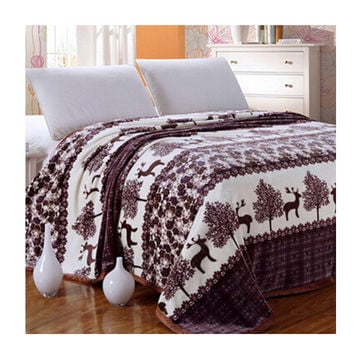 Two-side Blanket Bedding Throw Coral fleece Super Soft Warm Value 180cm 12