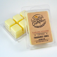 Banana Pudding Scented Wax Cubes - Bananas & Vanilla Wafer Cookie Fragrance Candle Wax Melts