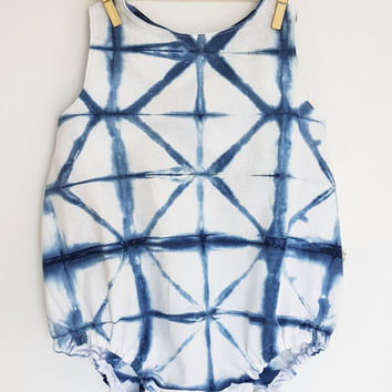 Bubble Romper, Shibori Romper, Baby Girl Romper, Boho Baby Clothes, Newborn Boy Coming Home Outfit, Summer Baby, Tie Dye Baby, Baby Gift