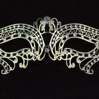 Sexy Venetian Laser Cut Silver Masquerade Party Mask Sparkling by Kayso International