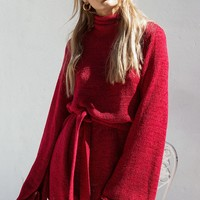 Sangria Knit Dress - Dresses by Sabo Skirt
