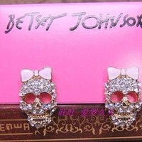 Betsey Johnson Skull Bow Earrings from CherryKreations21