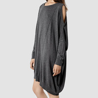 Femme Sago Dress (Charcoal) | ALLSAINTS.com