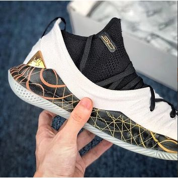 Under Armour Curry 5 Sport Newest Popular Men Casual Sport Basketball Shoes Sneakers I-A50-XYZ