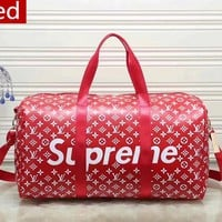 supreme  LV Women Leather Luggage Travel Bags Tote Handbag