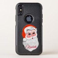 "Cute ""Santa Claus"" with name Christmas OtterBox Commuter iPhone X Case"
