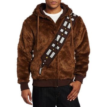 Star Wars I Am Chewie Chewbacca Furry Costume Hoodie Coat Sweatshirt Jacket Material Polyester All Season Wear coat