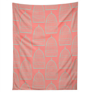 Allyson Johnson Bird Cage Pattern Tapestry
