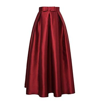 High Waist Pleated Maxi Skirts
