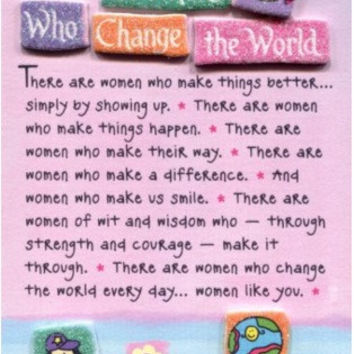 Blue Mountain Arts Women Who Change the World Miniature Easel-Back Print with Magnet