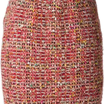 Coohem bouclé knit skirt