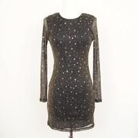 Motel Rocks sparkle body con dress