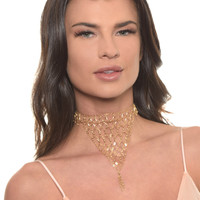 Lady of the Manor Choker in Gold