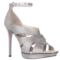 Vince Camuto Grimes Ankle-Strap Dress Sandals, Earl Grey, 9.5 US