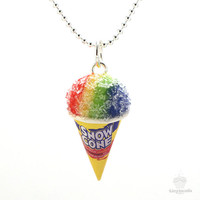 Scented Snow Cone Necklace - Food Jewelry