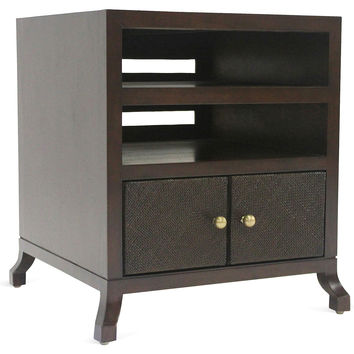 "Annabel 26"" Media Cabinet, Hazelnut, Media & TV"