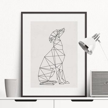animal dog art Minimal Greyhound Poster, Wall Art Print Canvas Minimalist Poster, Home Decor, Frames Not included