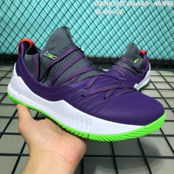 HCXX B302 Under Armour Curry 5 Actual Combat Basketball Shoes Purple