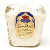 (1) Crown Royal® Tall 18 oz Candle With Wick - Bottle Heaven
