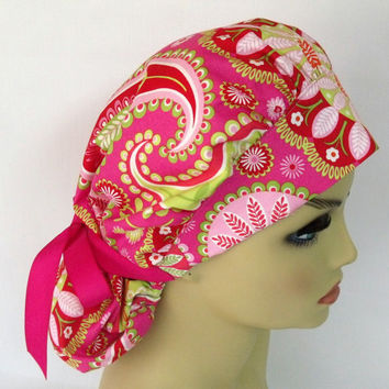 Bouffant Womens Surgical Scrub Hat or Cap Gypsy Bandana