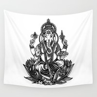 Ganesh Wall Tapestry by Kristy Patterson Design