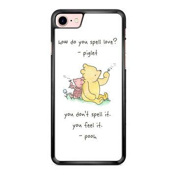 Winnie The Pooh Quote 1 iPhone 7 Plus Case