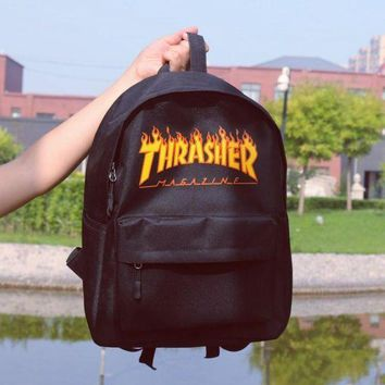 LMFON1O Day First Thrasher College Stylish Backpack To School Comfort Canvas Bag